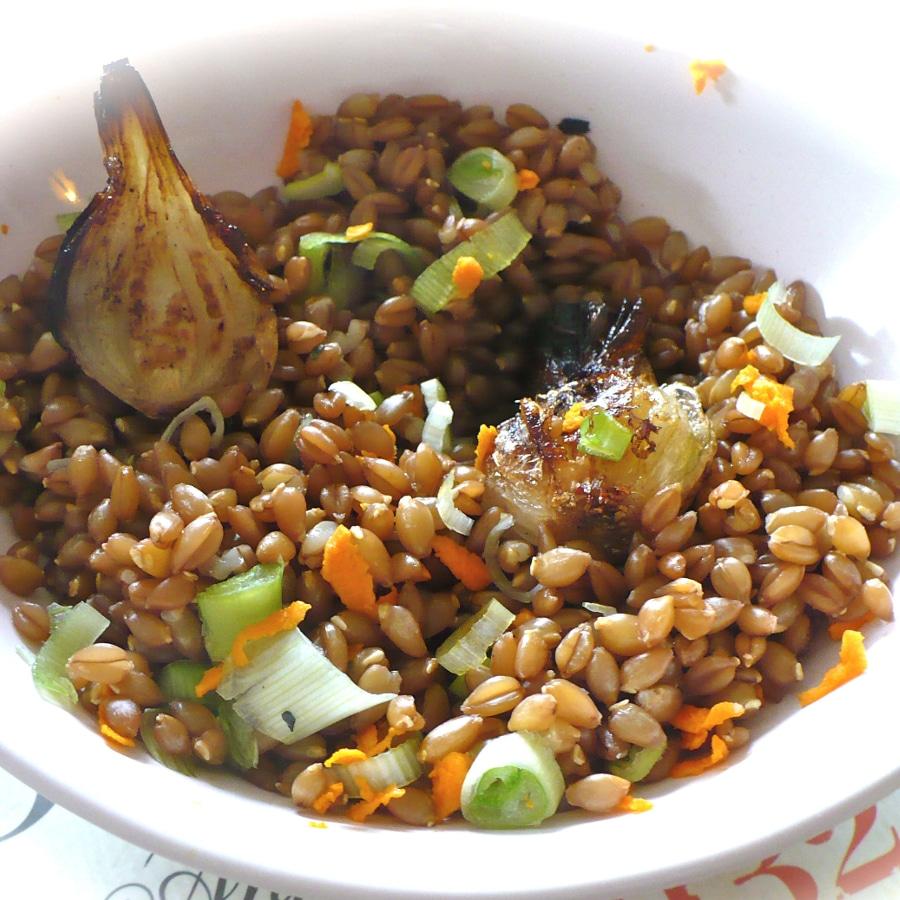 Salade petit épeautre et légumes