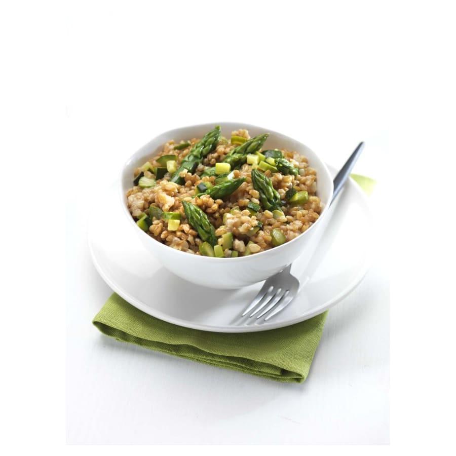 Salade petit épeautre et asperges vertes